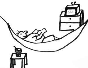 Go Outfitters Indoor Hammock Cartoon