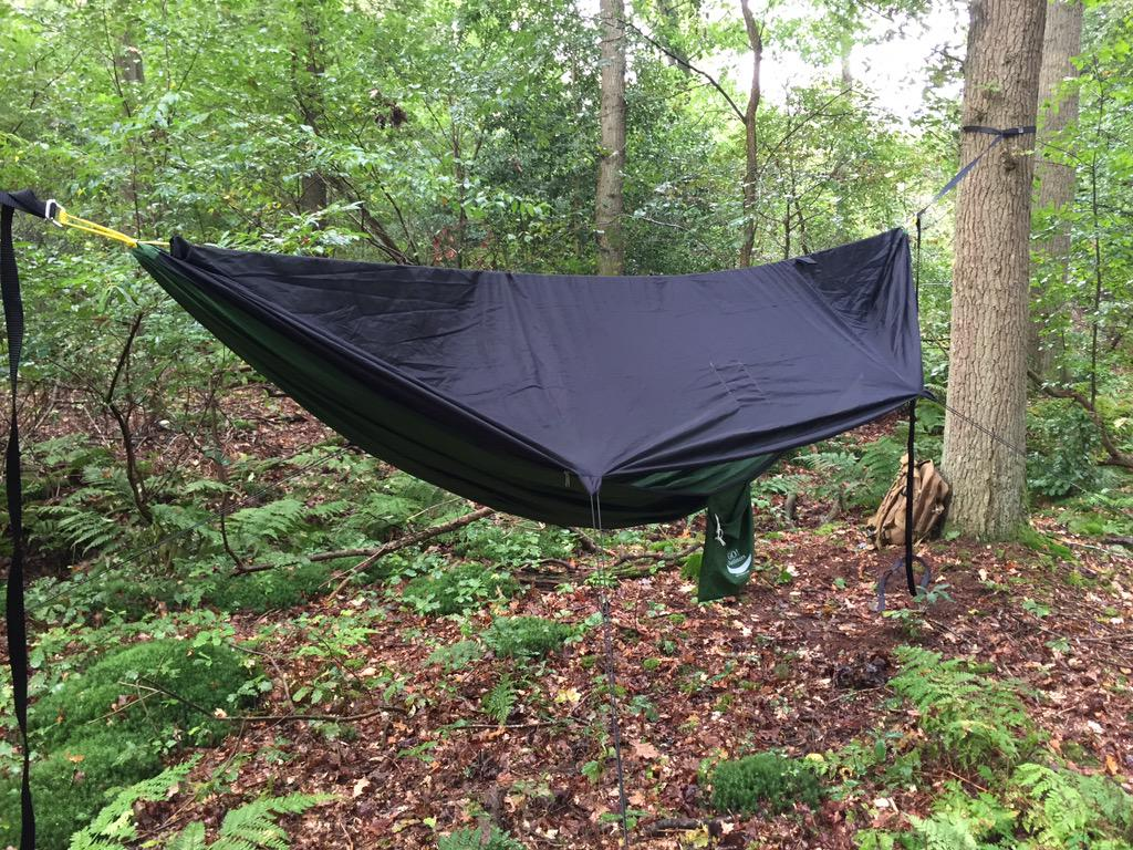 Big thanks to this backer for sending this photo of his GO! Camping Hammock set up in the Netherlands!