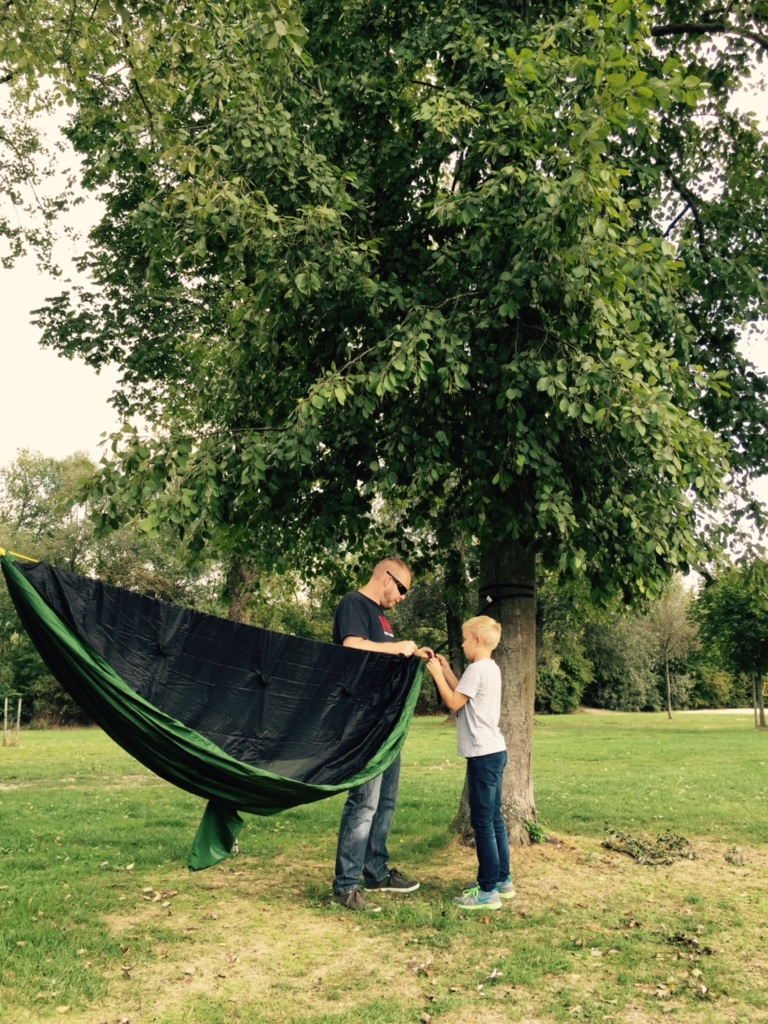 This backer from Austria was kind enough to share some photos of his GO! Camping Hammock set up in beautiful Austria!